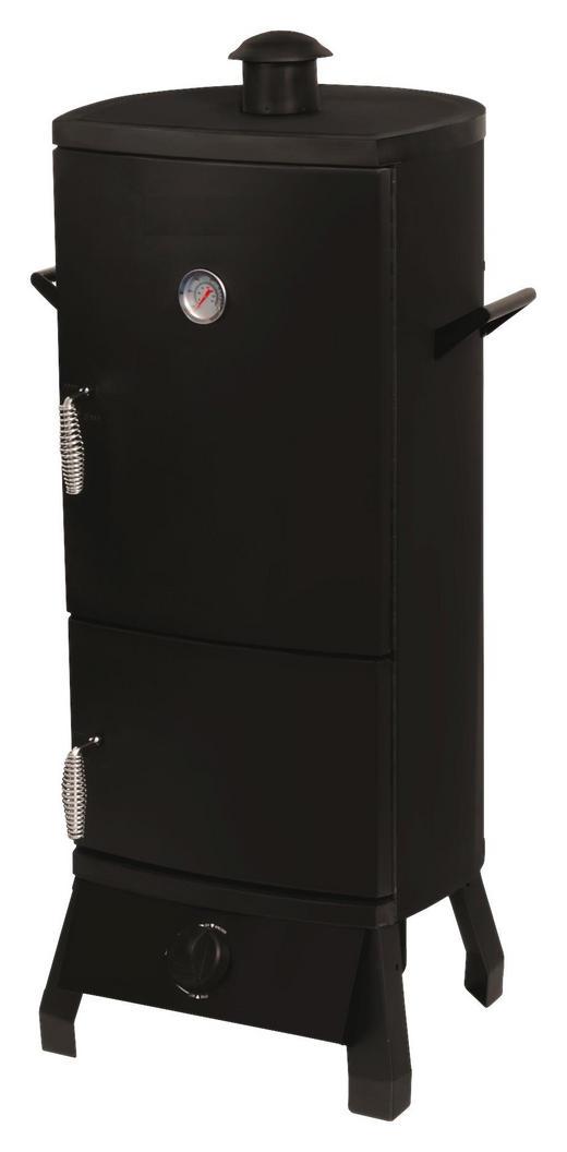 GASGRILL-SMOKER PORTLAND - Schwarz, KONVENTIONELL, Metall (55/45/105cm)
