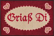 FUßMATTE 50/75 cm Texte Rot, Beige  - Beige/Rot, Basics, Kunststoff/Textil (50/75cm) - Esposa