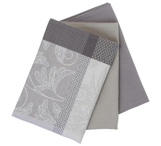 GESCHIRRTUCH-SET 3-teilig Grau - Grau, Basics, Textil (50/70cm) - Esposa