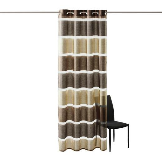 ÖSENSCHAL   140/245 cm - Braun, Basics, Textil (140/245cm) - Esposa