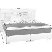 BOXSPRINGBETT 180 cm   x 200 cm   in Textil Anthrazit, Hellgrau - Edelstahlfarben/Anthrazit, Design, Textil (180/200cm) - CARRYHOME