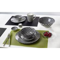 KAFFEEBECHER - Schwarz/Weiß, Basics, Keramik (0,350l) - Ritzenhoff Breker