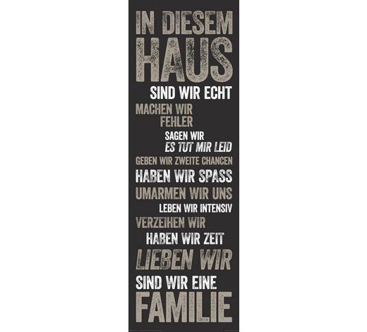 DEKOPANEEL - Schwarz/Braun, Basics, Holzwerkstoff (30/90cm) - Reinders Next