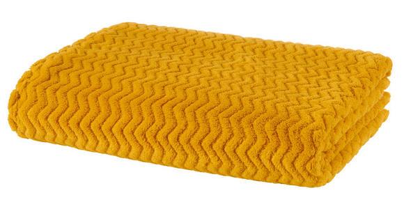 Kuscheldecke Talisha - Currygelb, MODERN, Textil (130/170cm) - Luca Bessoni