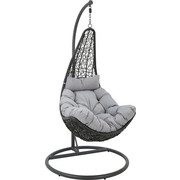 ZÁVĚSNÉ KŘESLO - šedá/černá, Konvenční, kov/textilie (100/191/100cm) - Ambia Garden