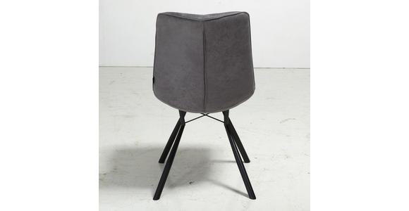 STUHL in Metall, Textil Anthrazit, Schwarz - Anthrazit/Schwarz, Design, Textil/Metall (60/89/54cm) - Xora