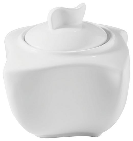 ZUCKERDOSE Keramik - Weiß, Basics, Keramik (9/9/9,5cm) - NOVEL