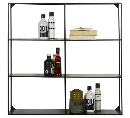REGÁL NÁSTĚNNÝ, černá - černá, Trend, kov (90/90/15cm) - Ambia Home