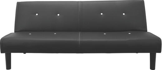 SCHLAFSOFA Lederlook Schwarz, Weiß - Schwarz/Weiß, Design, Textil (179/77/93,50cm) - Carryhome