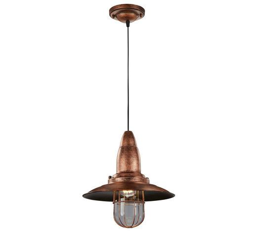 HÄNGELEUCHTE - Kupferfarben, LIFESTYLE, Metall (32/150cm)