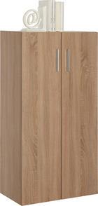 KOMODA - boje hrasta/crna, Design, drvni materijal/plastika (60/115,2/33,6cm) - Carryhome