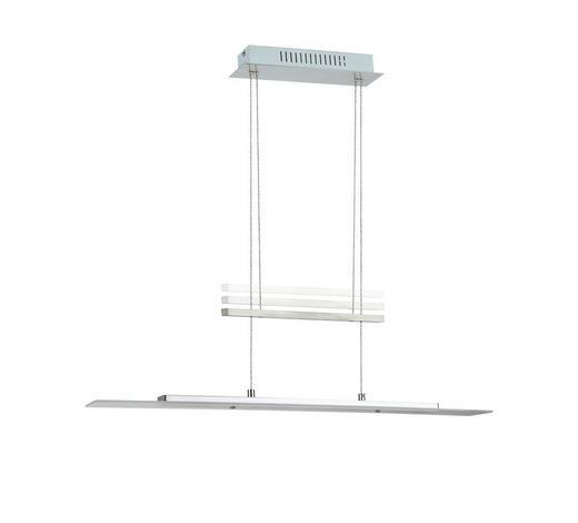 LED-HÄNGELEUCHTE   - Nickelfarben, Design, Glas/Kunststoff (80/150/8cm)