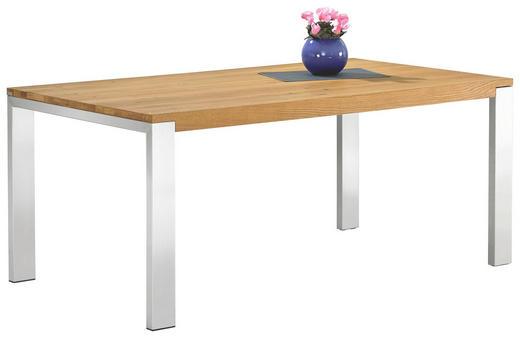 ESSTISCH Asteiche massiv rechteckig Eichefarben - Eichefarben, Design, Holz/Metall (180(260)/100/77cm) - BERT PLANTAGIE