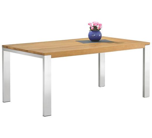 ESSTISCH in Holz, Metall 200/100/77 cm   - Eichefarben, Design, Holz/Metall (200/100/77cm) - Bert Plantagie
