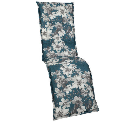RELAXSESSELAUFLAGE Blume - Petrol/Weiß, Basics, Textil (50/170/6cm)