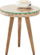 BEISTELLTISCH in Naturfarben - Naturfarben, Trend, Glas/Holz (35/35/40cm) - Ambia Home