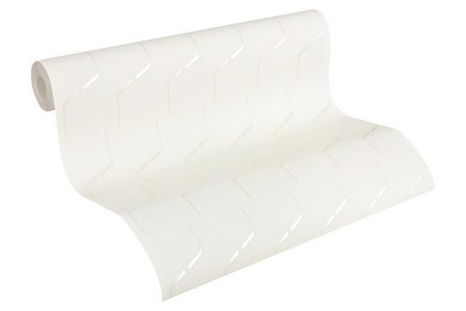 VLIESTAPETE 10,05 m - Perlmutt/Weiß, Design, Textil (53/1005cm)