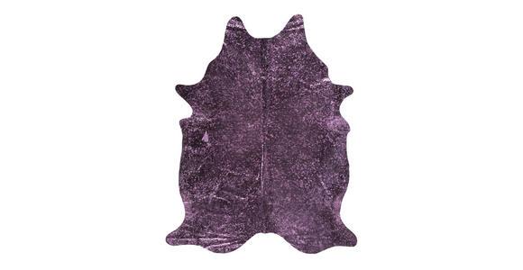 RINDERFELL - Blau/Bordeaux, Trend, Leder/Weitere Naturmaterialien (1,60/2,50cm) - Linea Natura