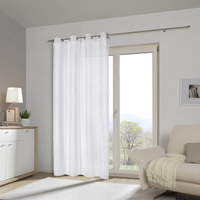 ÖSENVORHANG transparent - Weiß, Design, Textil (140/245cm) - Esposa