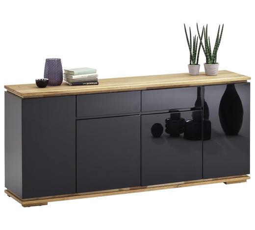 SIDEBOARD 182/81/40 cm - Eichefarben/Schwarz, Design, Holz/Holzwerkstoff (182/81/40cm)