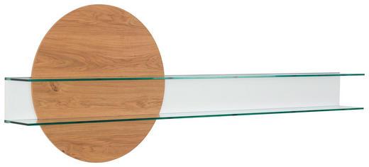 WANDPANEEL - Eichefarben/Weiß, Design, Glas/Holz (228,8/80/23,8cm) - Ambiente by Hülsta