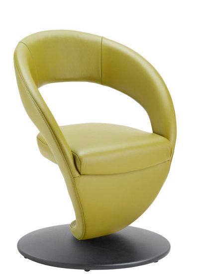 Moderano Stuhl echtleder schwarz