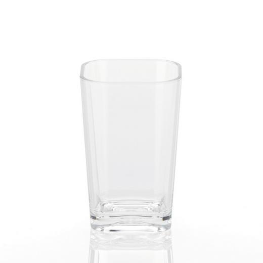 ZAHNPUTZBECHER - Transparent, Basics, Kunststoff (7,5/12/7,5cm)