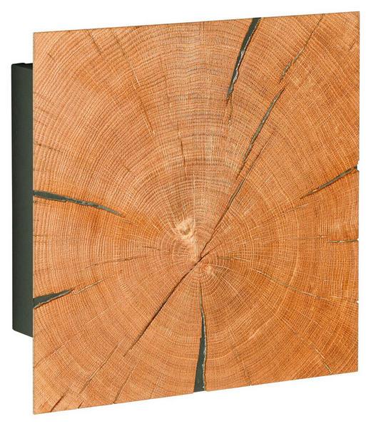 SCHLÜSSELKASTEN - Eichefarben, Design, Holz (34,3/34,3/13,1cm)