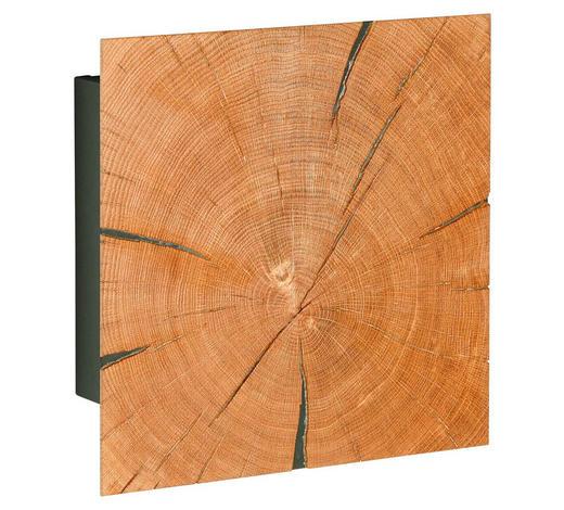 SCHLÜSSELKASTEN - Eichefarben/Schwarz, Design, Holz/Holzwerkstoff (34,3/34,3/13,1cm)