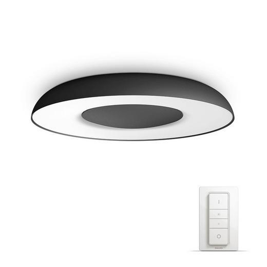 DECKENLEUC. HUE WHITE AMBIANCE - Schwarz, Design, Kunststoff/Metall (39/7,2/39cm) - Philips