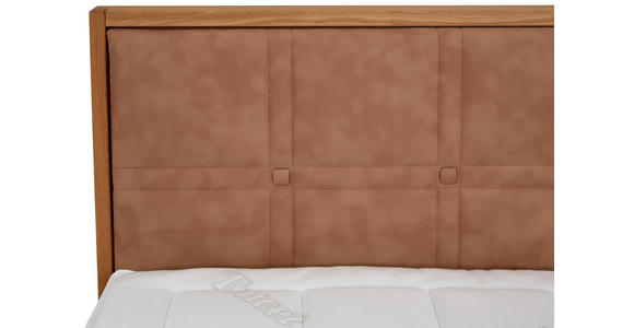 BOXSPRINGBETT 180/200 cm  in Eichefarben, Hellbraun - Hellbraun/Eichefarben, Natur, Holz/Textil (180/200cm) - Valnatura
