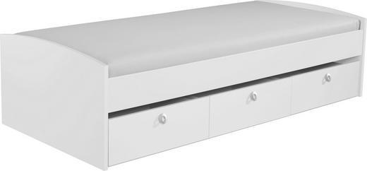 STAURAUMBETT 90/200 cm - Weiß, Design (90/200cm) - CARRYHOME
