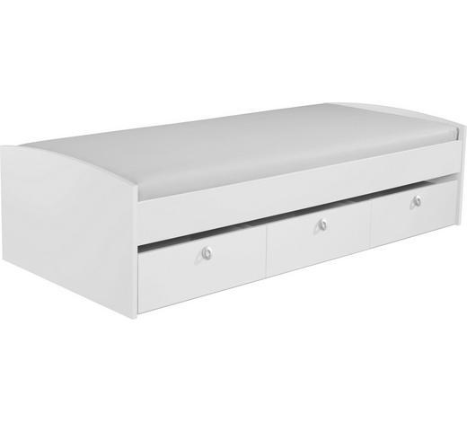 STAURAUMBETT - Weiß, Design, Holzwerkstoff (90/200cm) - Carryhome