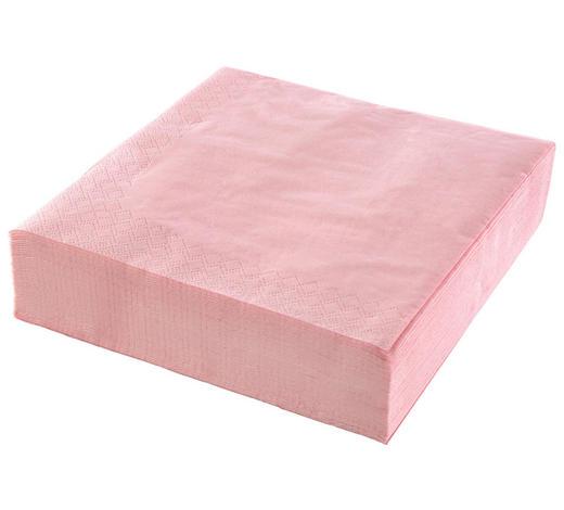 SERVIETTE - Pink, Basics, Papier (41,5/41,5/28,5cm) - Xxxlpack