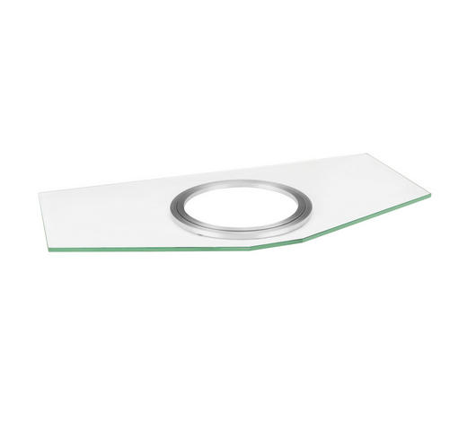 TV-DREHPLATTE  Metall, Glas  Klar, Silberfarben  - Klar/Silberfarben, Design, Glas/Metall (82/5/42cm) - Boxxx