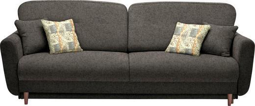 DREISITZER-SOFA in Textil Dunkelbraun - Dunkelbraun/Multicolor, Design, Holz/Textil (235/87/98cm) - Hom`in