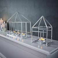 TEELICHTHALTER - Silberfarben, Basics, Metall (26/11/22,5cm) - Ambia Home