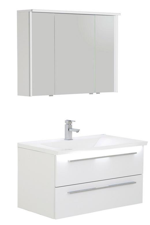 BADEZIMMER Weiß - Weiß, Design, Stein (90cm) - Dieter Knoll