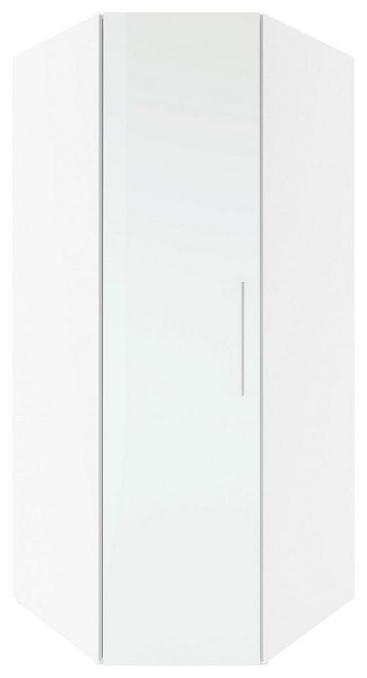 ECKSCHRANK Weiß - Chromfarben/Weiß, Design, Holz/Metall (92,5/208/92,5cm) - Carryhome