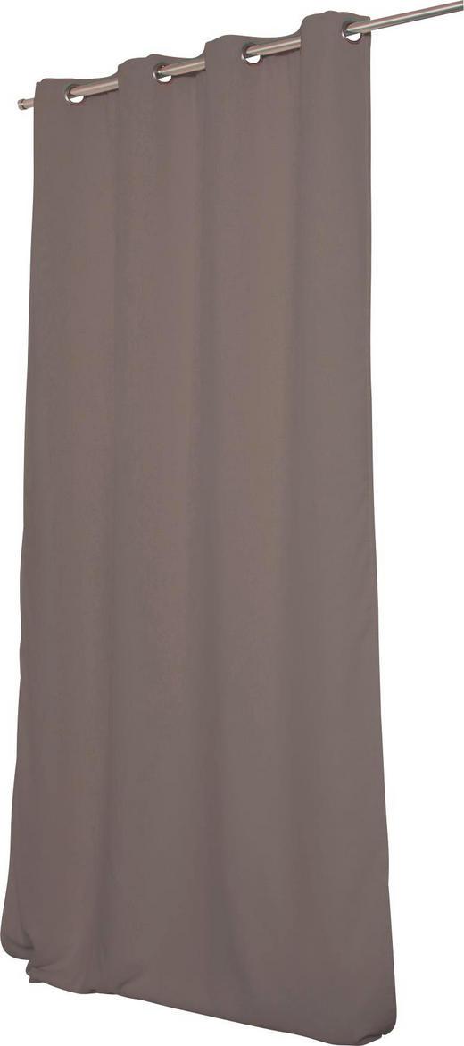 LÄRMSCHUTZVORHANG  Verdunkelung  145/260 cm - Grau, Textil/Metall (145/260cm)