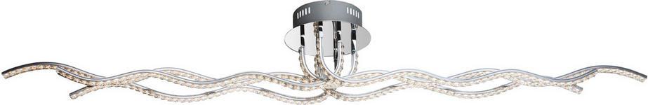 LED-DECKENLEUCHTE - Chromfarben, Design, Glas/Metall (147/20/19cm) - Ambiente