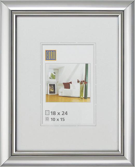 BILDERRAHMEN in Silberfarben - Silberfarben, Basics, Glas/Kunststoff (18/24cm)