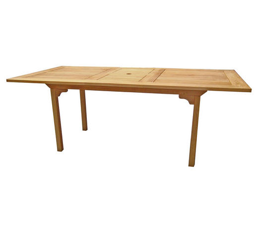 GARTENTISCH Holz Teakfarben - Teakfarben, Basics, Holz (160/210/100/75cm) - Zebra Süd