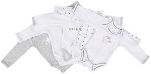 BABYBODY-SET  - Weiß/Dunkelblau, Basics, Textil (50/56null) - My Baby Lou