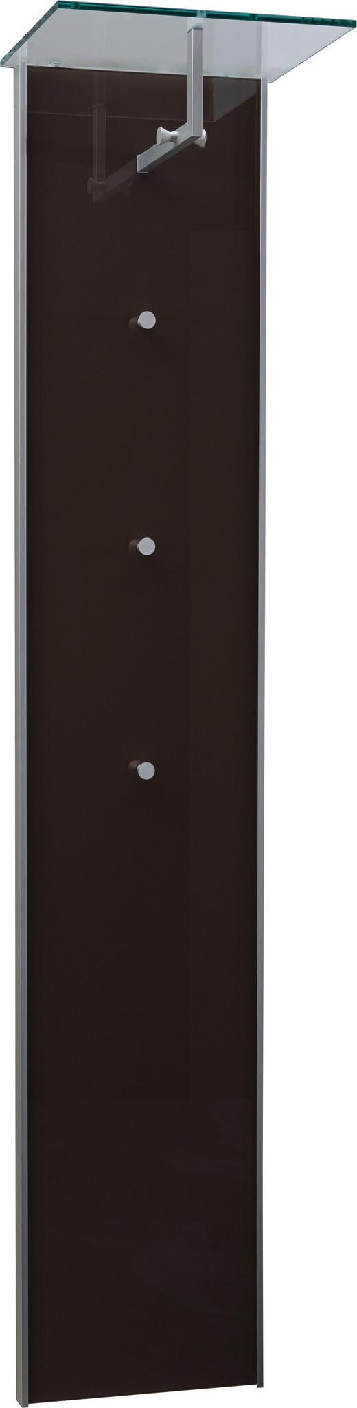 GARDEROBENPANEEL - Klar/Alufarben, Design, Glas/Holzwerkstoff (40/189/32,5cm) - Dieter Knoll