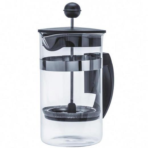 KAFFEEBEREITER 0,6 L - Klar/Schwarz, Basics, Glas/Kunststoff (11,2/19,2/11,2cm)