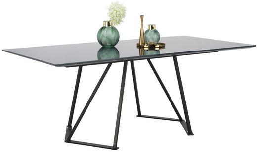 ESSTISCH in Metall, Glas, Holzwerkstoff 200/100/75 cm - Anthrazit/Schwarz, Design, Glas/Holzwerkstoff (200/100/75cm) - Joop!