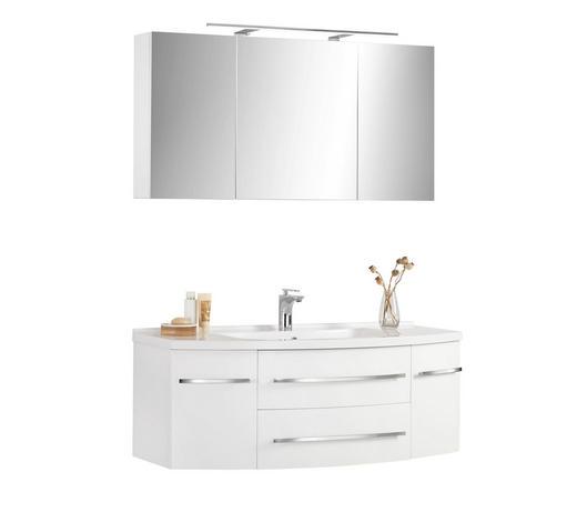 KOUPELNA, bílá - bílá, Konvenční, kompozitní dřevo/kámen (120/55cm) - Xora