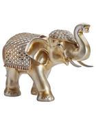 Dekoelefant H 37cm - Silberfarben/Goldfarben, LIFESTYLE, Kunststoff (37cm) - Ambia Home