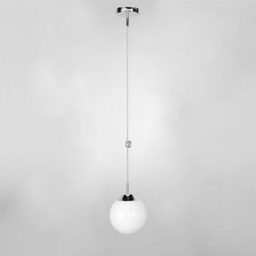 HÄNGELEUCHTE - Opal/Weiß, LIFESTYLE, Glas/Metall (25/25/170cm) - Joop!